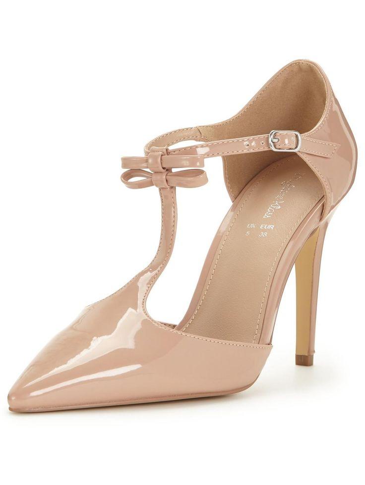 Beau T-Bar Bow Patent Shoe