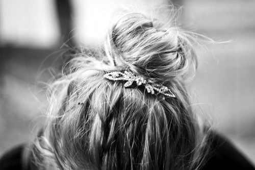high bun- too bad my hair neverrrr turns out this cute!