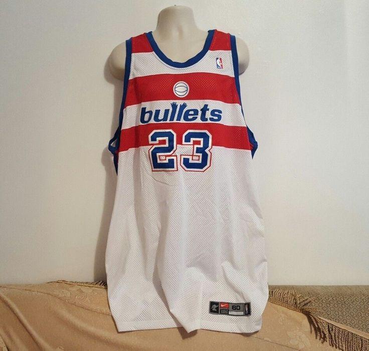 Michael Jordan #23 Washington Wizards Bullets Sewn Jersey 60 VTG Nike Authentic #Nike #WashingtonWizards