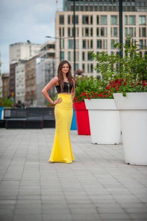 Długa spódnica -syrena www.facebook.com/matmari.pracownia