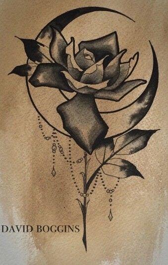 Rose moon tattoo…