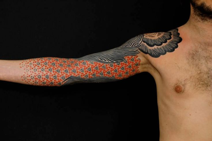Arm tattoo with patterns by Gerhard Wiesbeck