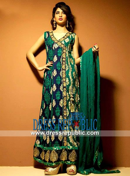 Green angrakha dress by pakistani designer cimyra buy Pakistani fashion designers