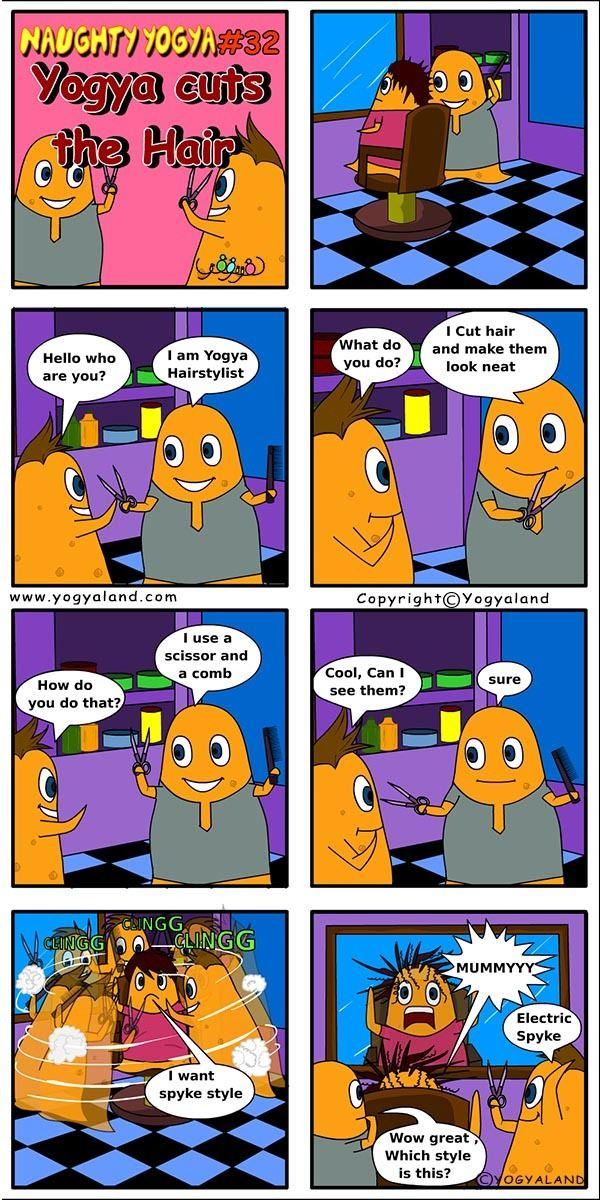 Yogya Cuts The Hair Daily Funny Comics For Kids Www Yogyaland