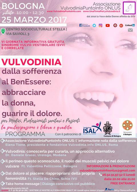 """➡ 📢 Già in tant* avete prenotato il Vs posto al nuovo OPEN-DAY di Associazione #VulvodiniaPuntoInfo ONLUS """"Dalla Sofferenza al BenEssere""""! Come recuperare il piacere anche durante l'inferno? Se ne parla a #Bologna il 25/03! #VULVODINIA La partecipazione è 100%  🍃 GRATUITA e gradita i posti limitati ➡ conferma ORA la tua qui >> vulvodiniapuntoinfoonlus@gmail.com"""