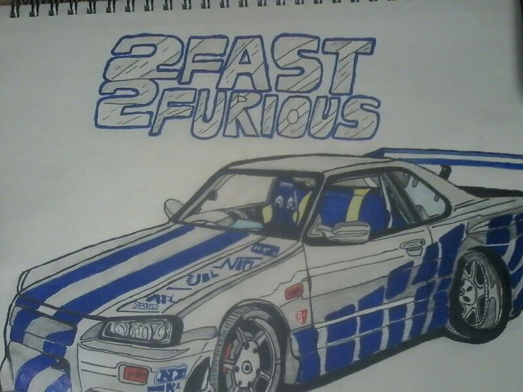 Nissan skyline gtr r34 from the movie 2 fast 2 furious for Fast and furious tattoo