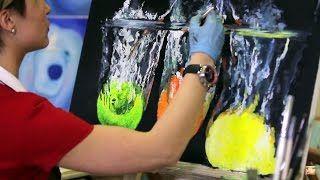Смотреть онлайн видео Уроки Рисования, Живописи. Как рисовать Акриловыми красками. Рисуем поэтапно.