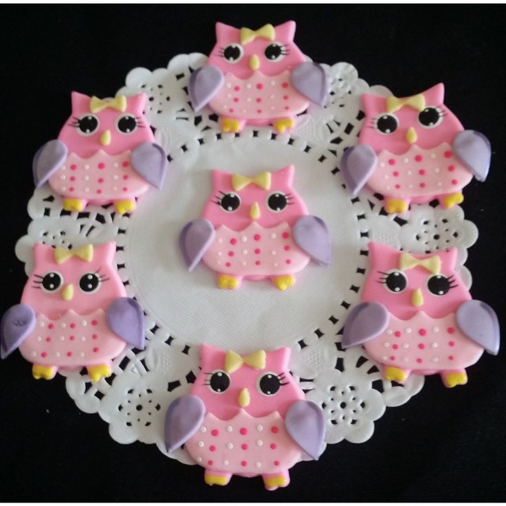 Owl Birthday Decorations, 12 Owls Cupcake Toppers, Owl First Birthday Favors, Owl Birthday Party Theme, Pink Owl Baby Shower Decoration Pink and Brown, Brown Owls Decorations - Cake Toppers Boutique  - 2