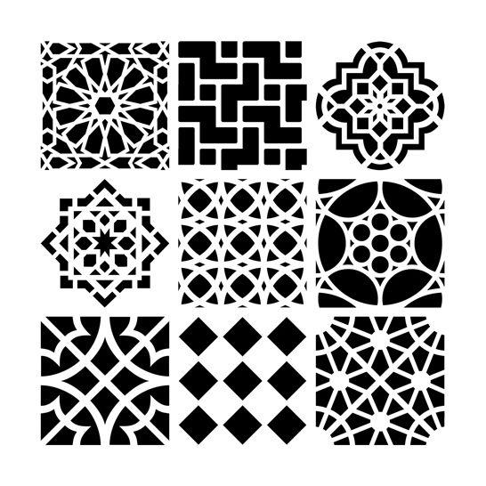 moroccan tiles reusable stencils