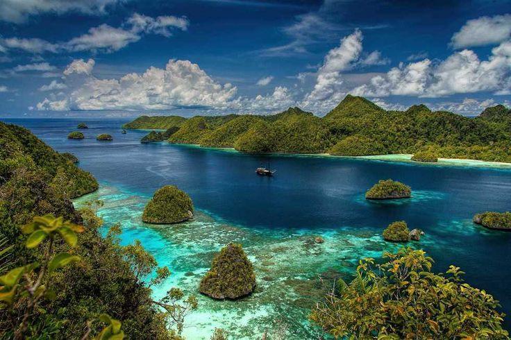 Islas Raja Ampat (Indonesia) #jungla #jungle #islas #islands #rajaampat #indonesia #naturaleza #nature #playa #beach #paisaje #seascape #mar #sea #barco #boat #oceano #ocean #coral #paraiso #paradise #snorkle #buceo #diving // Fot.: An Dy