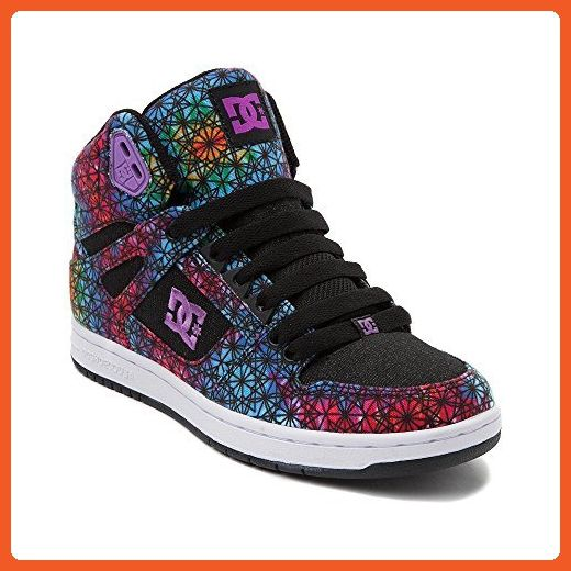 Womens DC Skate Shoe (Womens 7.5, Rebound Hi Black Multi 2121) - Sneakers for women (*Amazon Partner-Link)