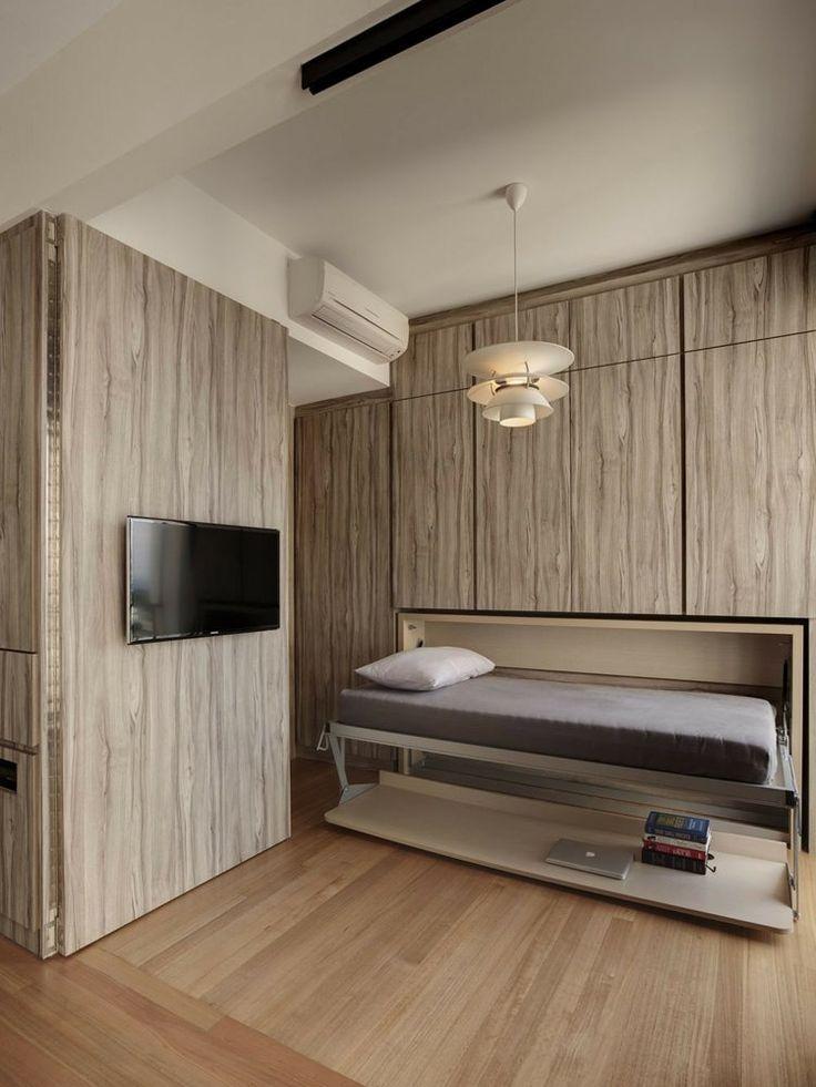 Das Multifunktionale Platzsparende Bett Kann Auch Als Arbeitstisch  Funktionieren