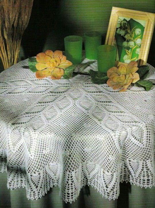 1 of 3  Crochet Tablecloth