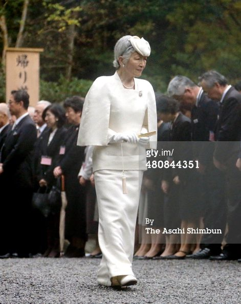 Empress Michiko at Ise Shrine