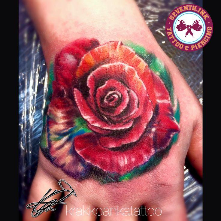 #flowerink #flowertattoo #rose #rosetattoo #floral #ink #tattoo #tattoos #krakkpankatattoo