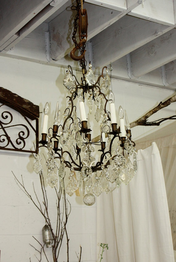 Dreamy, Vintage French. Dripping with style. Dining room, kitchen or installed on covered front porch?