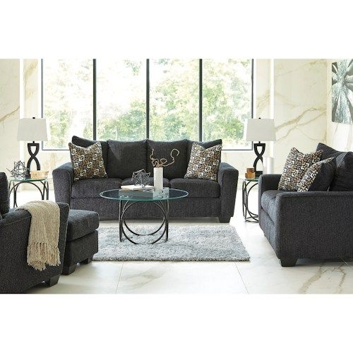 Benchcraft Wixon Queen Sofa Sleeper with Memory Foam Mattress & Rounded Track Arms