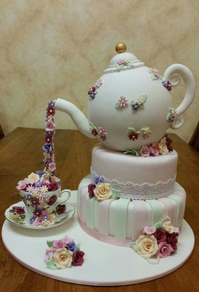 Tea Party Cake Images : 25+ best ideas about Teacup cake on Pinterest Tea party ...