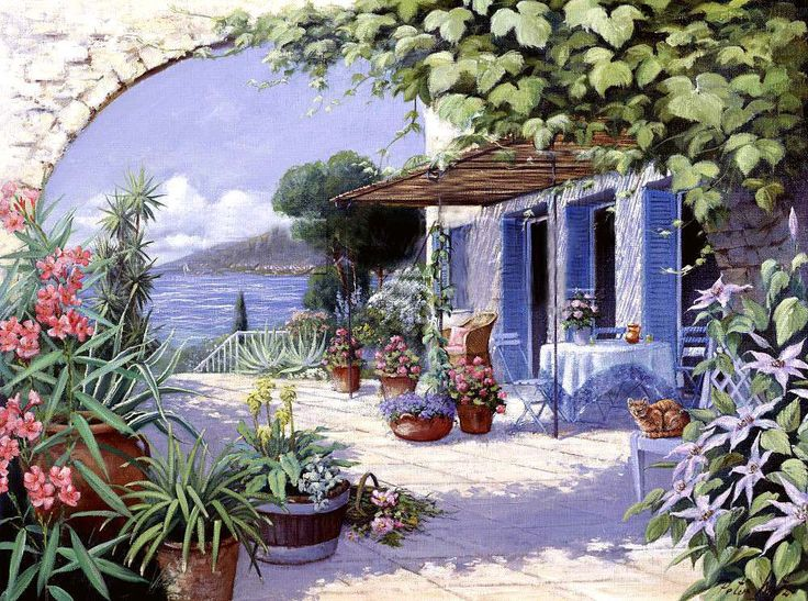 ✿Flowers at the window & door✿ levkonoe: Peter Motz ~ Seaside