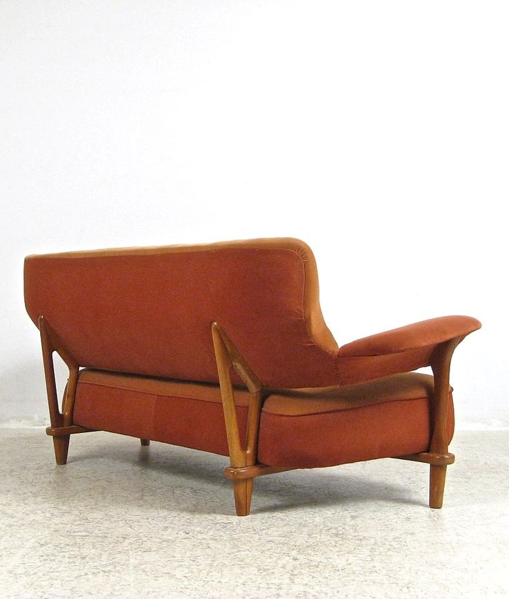 Theo Ruth; Teak Sofa for Artifort, 1950s. www.serpentrouge.co
