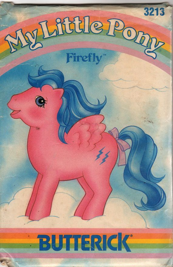 Butterick 3212 My Little Pony Starshine sewing pattern stuffed horse UNCUT