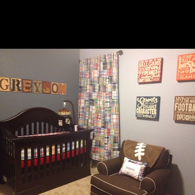 Greysons Colorful Little Man Cave Nursery