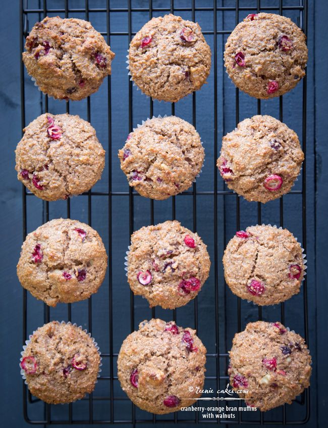 Cranberry-Orange Bran Muffins with Walnuts recipe