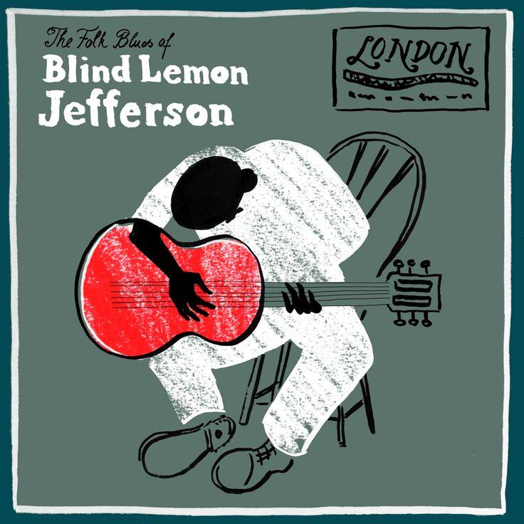 Blind Lemon Jefferson, illustration by Julia Kaiser #albumart #guitar #animatedgif #animation #music