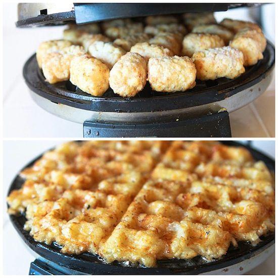 Tater Tot Waffles.                                                 -- MIND. BLOWN. --