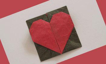 Оригами сердце-коробочка на День святого Валентина