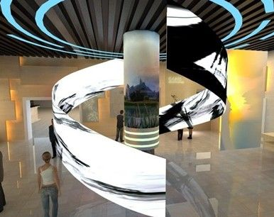 Curved – flexible LED display screen for exhibition show