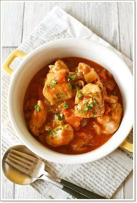 鶏もも肉のトマト煮込み【作りおき】 by 鈴木美鈴 [クックパッド] 簡単おいしいみんなのレシピが248万品