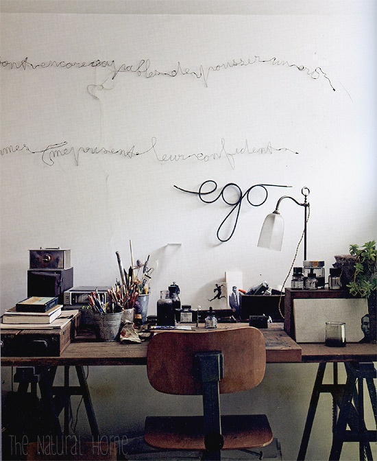 Word-filled workspace.