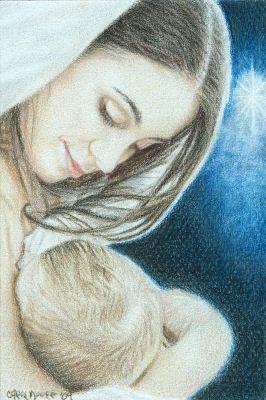 Mary Did You Know - OSWOA by Carol-Moore.deviantart.com Colored Pencil Artwork