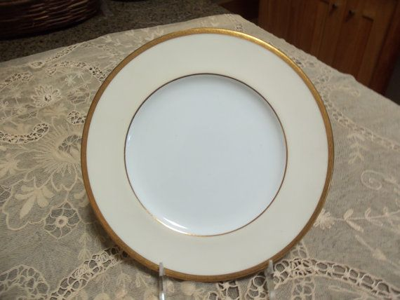 Antique Coalport Luncheon Plates/ Dinnerware Set/Cream Colored Border/Gilt Trim/Circa 1890/Fine China /Dinner Party/Wedding Gift