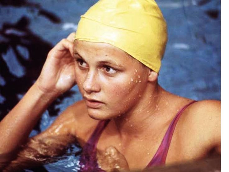Australia's Shane Gould is the only person, male or female, to hold every world freestyle record from 100 m to 1500 m and the 200m individual medley world record simultaneously, which she did from 12 December 1971 to 1 September 1972. She is also the first female swimmer ever to win three Olympic gold medals in world record time and the first swimmer, male or female, to win Olympic medals in five individual events in a single Olympics.