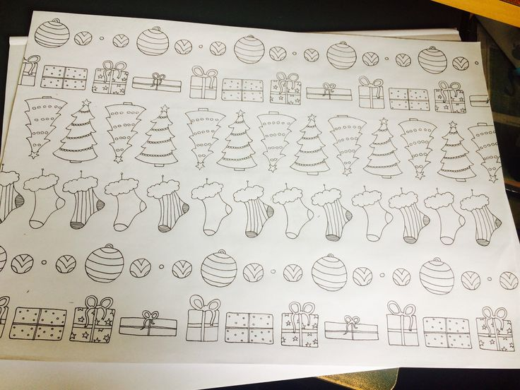Christmas wrapping paper I designed/colouring page :D