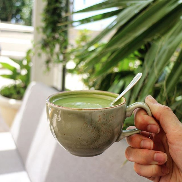 Green is our favourite colour 💚 #MatchaLatte