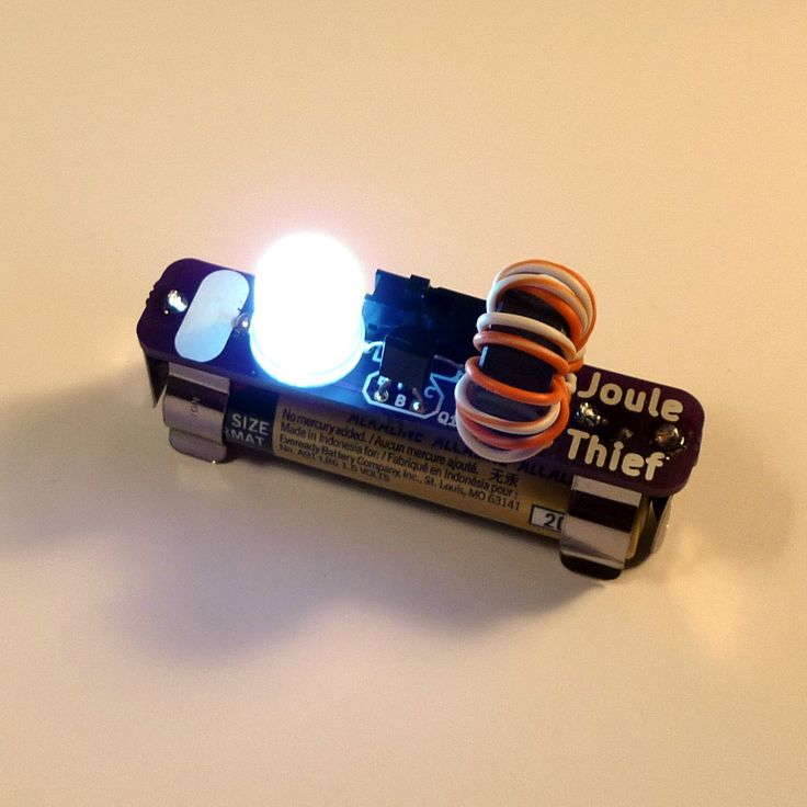 $5.00 JOULE THIEF: The perfect night-light, and a great way to learn how to solder.