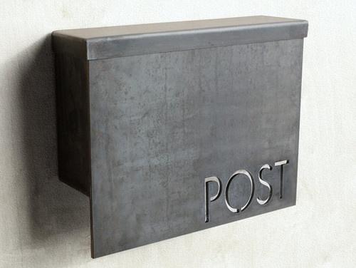 Standard Modern Mailbox by Austin Outdoor Studio aka Steel House MFG $245 Etsy