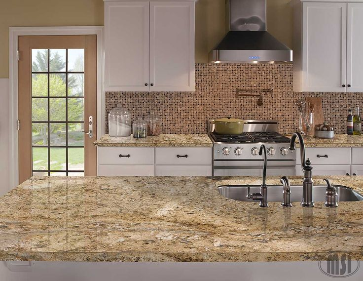 23 best images about granite on pinterest arizona for Kitchen ideas with yellow countertops
