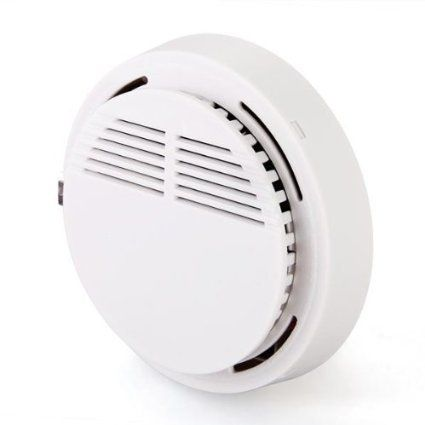 Sensitive Photoelectric Home Security System Cordless Wireless Smoke Detector Fire Alarm
