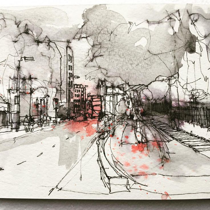 "1,142 Likes, 10 Comments - Simone Ridyard (@simoneridyard) on Instagram: ""Another sketch using non waterproof ink. Outside Whitworth Art Gallery Manchester…"""
