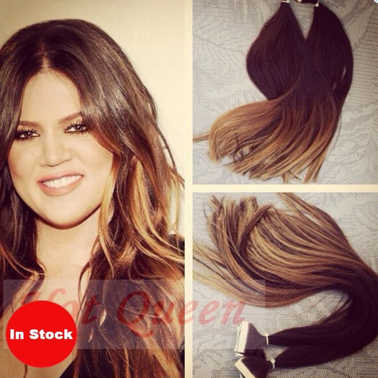 59.85$  Watch here - http://alibql.worldwells.pw/go.php?t=1820814357 - Brazilian Ombre Tape Hair Extension Brown #3/27 Blonde 40PCS/100g Straight Invisible Skin Weft Hair Extensions 59.85$