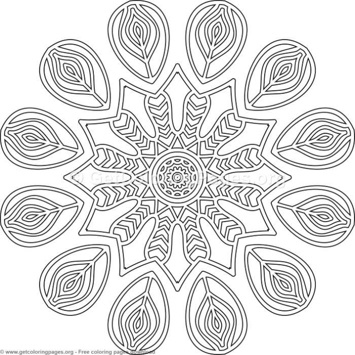 Free Zentangle Mandala Coloring Pages Concept