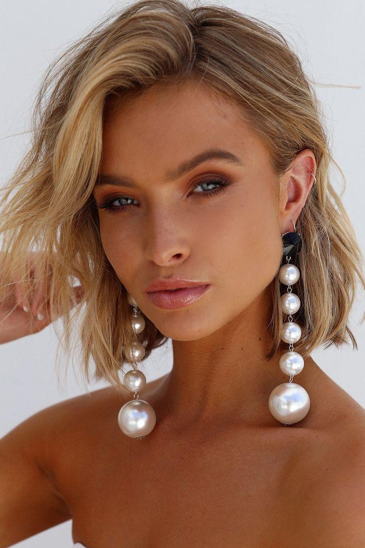 Lioness - Ball Drop Earrings (White)