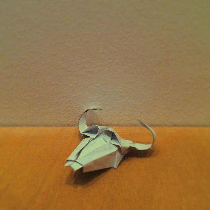 #improve #skull #desert #origami #paper