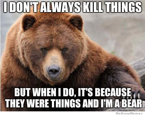 the most interesting bear in the world meme
