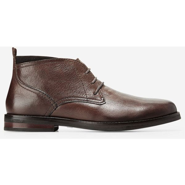 Cole Haan Men's Ogden Stitch Chukka Boot (8.115 RUB) ❤ liked on Polyvore featuring men's fashion, men's shoes, men's boots, dark brown grain, mens shoes chukka boots, cole haan men's boots, mens leather shoes, mens leather boots and mens leather chukka boots