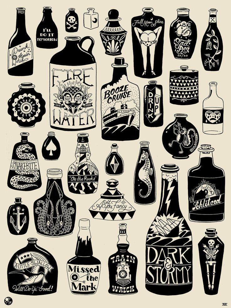 best 25 bottle tattoo ideas on pinterest traditional tattoos neo traditional tattoo and ship. Black Bedroom Furniture Sets. Home Design Ideas